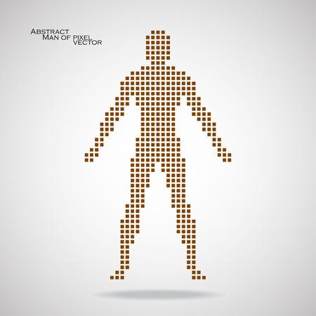 pix: Man of pixel. Abstract background. Vector illustration. Eps 10 Illustration
