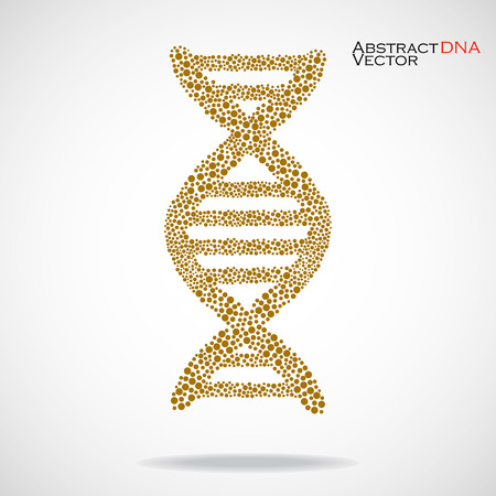 Abstract DNA. Colorful molecular structure. Vector illustration. Eps 10 Illustration