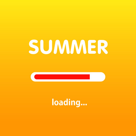 eps: Summer is loading. Vector illustration. Eps 10 Illustration