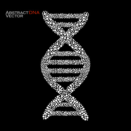 Abstract DNA. Colorful molecular structure. Vector illustration.