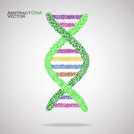 alternating organic: Abstract DNA. Colorful molecular structure. Vector illustration. Eps 10 Illustration