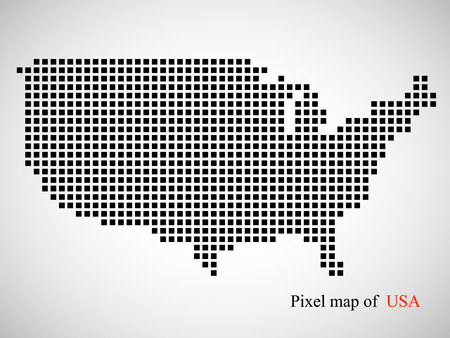 Abstract map of USA. Colorful background. Vector illustration.    イラスト・ベクター素材