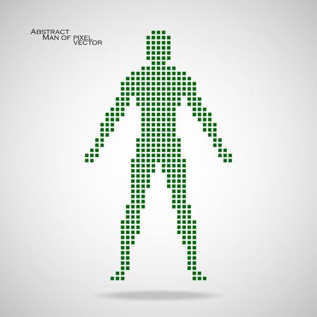 pix: Man of pixel. Abstract background. Vector illustration.  Illustration
