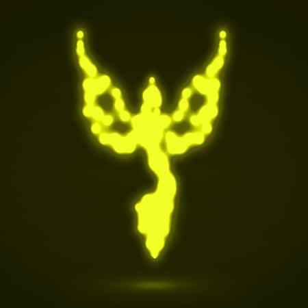 invincible: Abstract phoenix. Glowing fire bird. Vector illustration.  Illustration