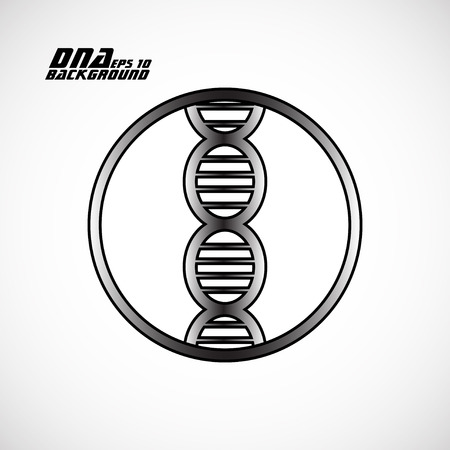 bases: Dna icon. Vector illustration.  Illustration