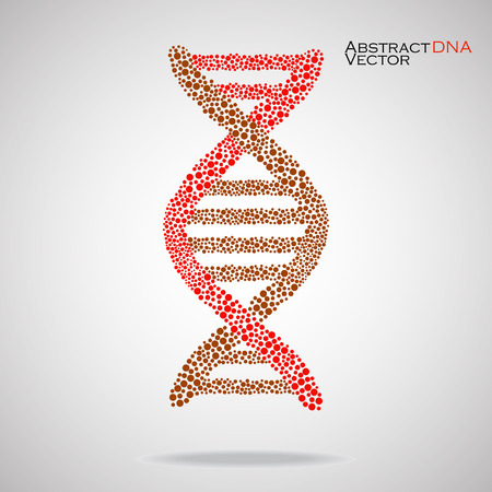 alternating organic: Abstract DNA. Colorful molecular structure. Vector illustration.