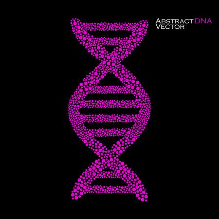 alternating organic: Abstract DNA. Colorful molecular structure. Vector illustration.  Illustration