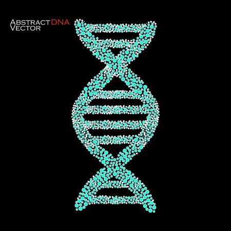 alternating organic: Abstract DNA.