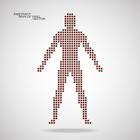 pix: Man of pixel. Abstract background.