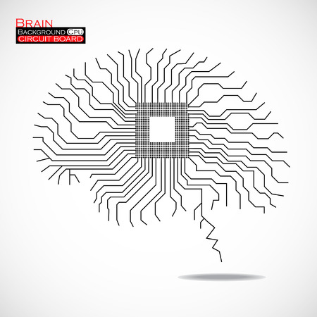 microprocessor: Brain. Cpu. Microprocessor.   Illustration