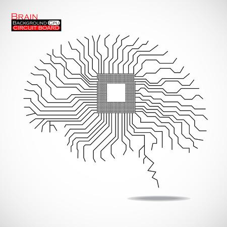 microprocessor: Brain. Cpu. Microprocessor.   Illustration