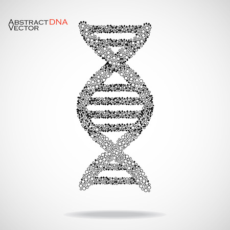 alternating organic: Abstract DNA. Colorful molecular structure.