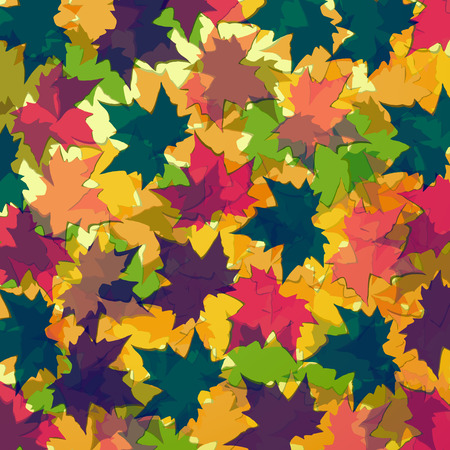 colofrul: Autumn background of maple leaves. Colofrul vector image. Eps 10