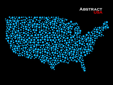 us: Abstract map of USA. Colorful background. Vector illustration. Eps 10 Illustration