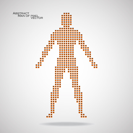 Man of pixel. Abstract background. Vector illustration. Eps 10 Illustration