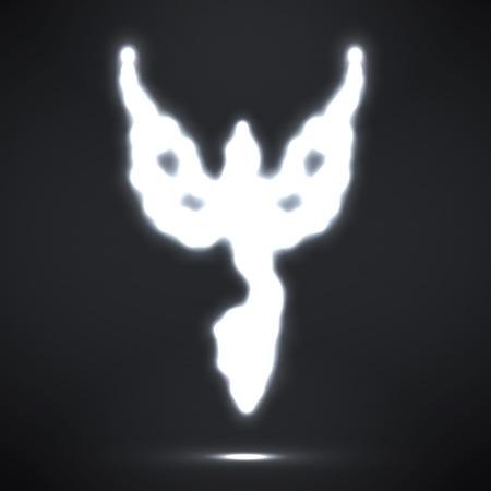 invincible: Abstract phoenix. Glowing fire bird. Vector illustration. Eps 10
