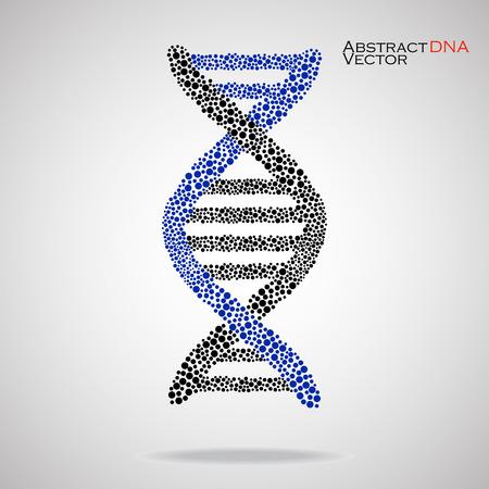 vector  molecular: Abstract DNA. Colorful molecular structure. Vector illustration. Eps 10 Illustration
