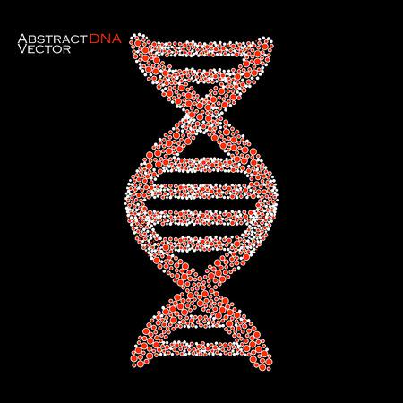 vector  molecular: Abstract DNA. Colorful molecular structure. Vector illustration.