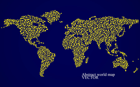Abstract world map. Colorful background. Vector illustration. Eps 10 Фото со стока - 44059136