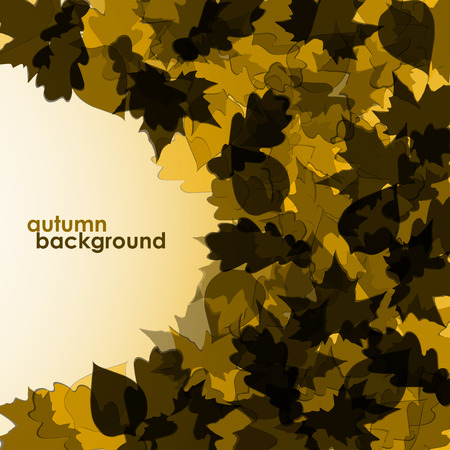 oak trees: Colorful  leaves in an abstract form. Vector background. Eps 10