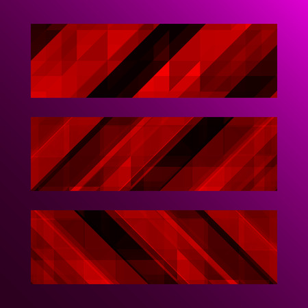 trendy shape: Abstract trendy banner with geometric shape