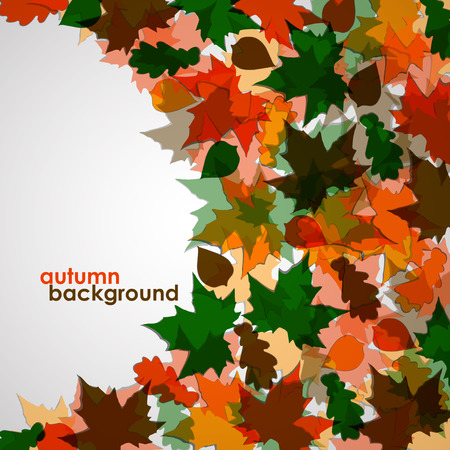 autumn background: Autumn background of maple leaves Illustration