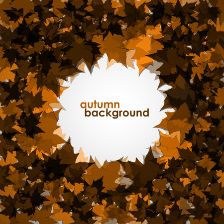 colofrul: Autumn background of maple leaves. Colofrul vector image.