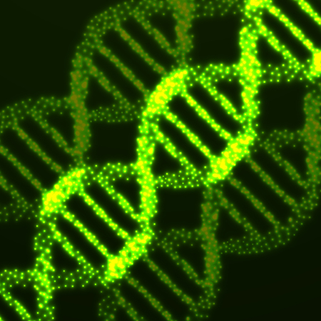 vector  molecular: Abstract DNA. Neon molecular structure. Vector illustration.