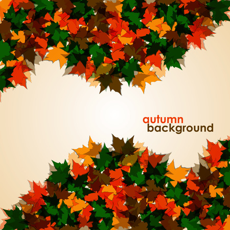 colofrul: Autumn background of maple leaves. Colofrul vector image. Illustration