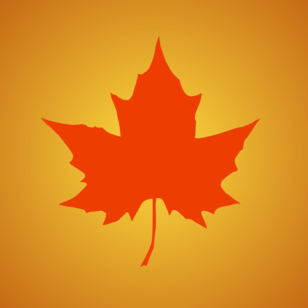 Silhouette Of The Maple Leaf Canadian Symbol Vector Illustration