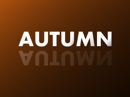 reflection mirror: The word AUTUMN in mirror reflection. Vector illustration. Eps 10