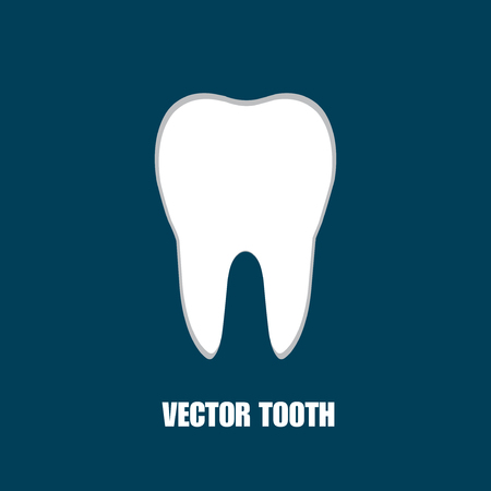 carious: Tooth Icon. Vector illustration. Eps 10