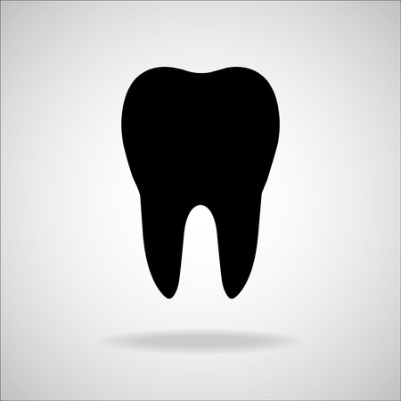 carious cavity: Tooth Icon. Vector illustration. Eps 10