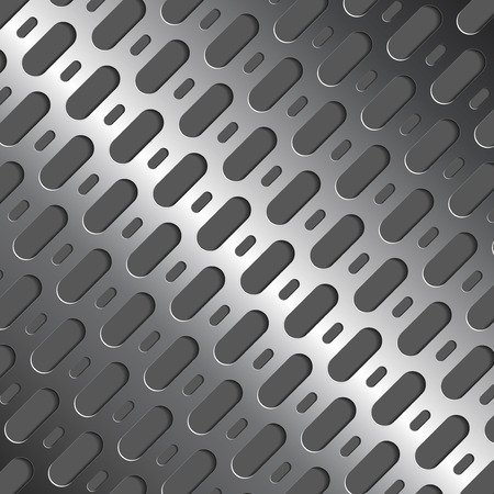metal grate: Metal background with  3d holes. Realistic abstraction. Vector illustration. Eps 10