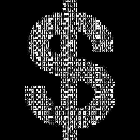 true or false: Binary code symbols in the form of dollar. Vector illustration. Eps 10