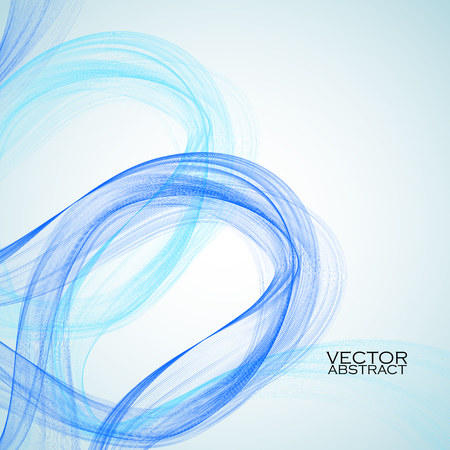blue waves: Abstract blue waves on white background. Vector illustration. Eps 10 Vettoriali