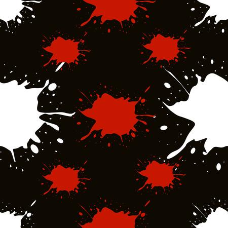 slur: Colorful blots. Seamless vector pattern. Vector illustration. Eps 10