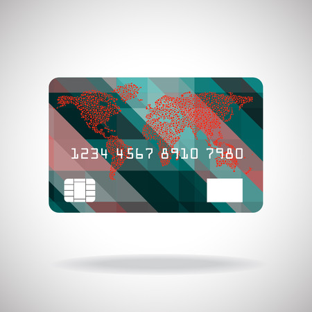 credit card icon: Credit card icon isolated on white background. Vector illustration.