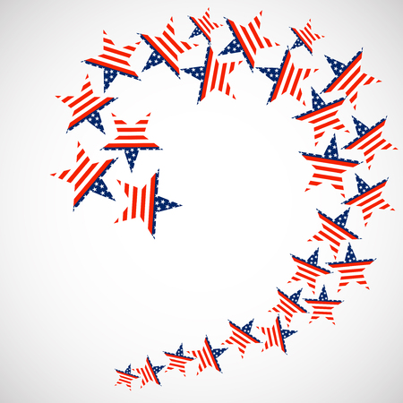 federal election: USA flag in star shapes. Vector illustration. Eps 10