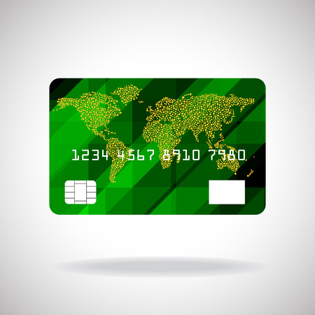 credit card icon: Credit card icon isolated on white background. Vector illustration. Eps10 Illustration