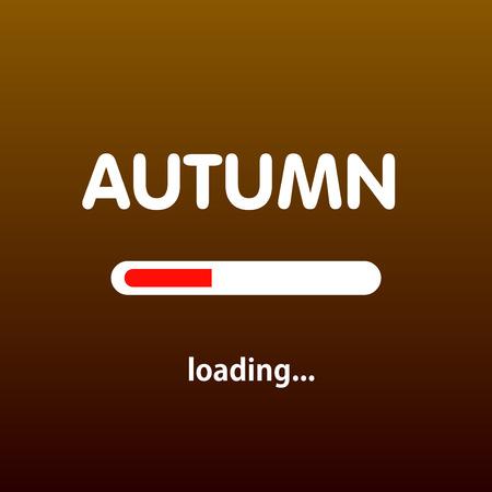eps 10: Autumn is loading. Vector illustration. Eps 10 Illustration