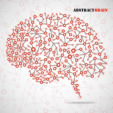 brain illustration: Abstract brain human. Molecular structure. Vector illustration. Eps 10