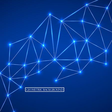 점과 선을 연결하는 추상적 인 기하학적 배경. 현대 기술 개념입니다. 벡터 일러스트 레이 션. Eps 10 일러스트