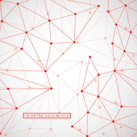 transparency: Abstract geometric background with connecting dots and lines. Modern technology concept. Vector illustration. Eps 10 Illustration