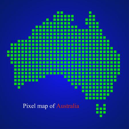 eps 10: Pixel map of Australia. Colorful background. Vector illustration. Eps 10 Illustration