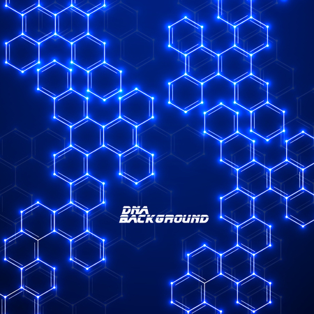 technology background: Abstract molecular structures. Technology background.