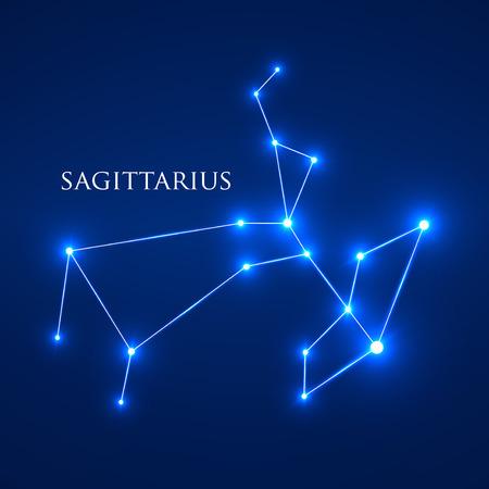 zodiacal symbol: Constellation Sagittarius Zodiac Sign. Vector Illustration. EPS 10