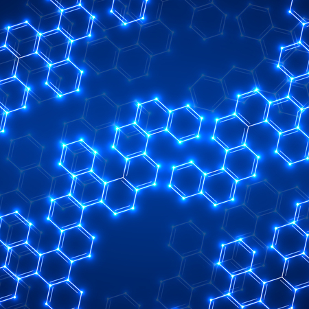 bases: Abstract molecular structures. Technology background. Vector illustration. Eps 10