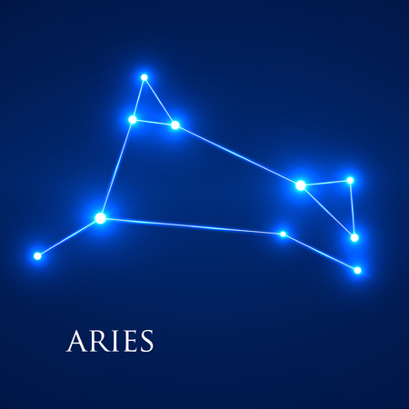 interoperability: Constellation Aries Zodiac Sign. Vector Illustration. Eps 10 Illustration