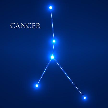 interoperability: Constellation Cancer Zodiac Sign. Vector Illustration. Eps 10